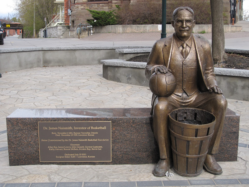 james naismith statue unveiled in inventors hometown