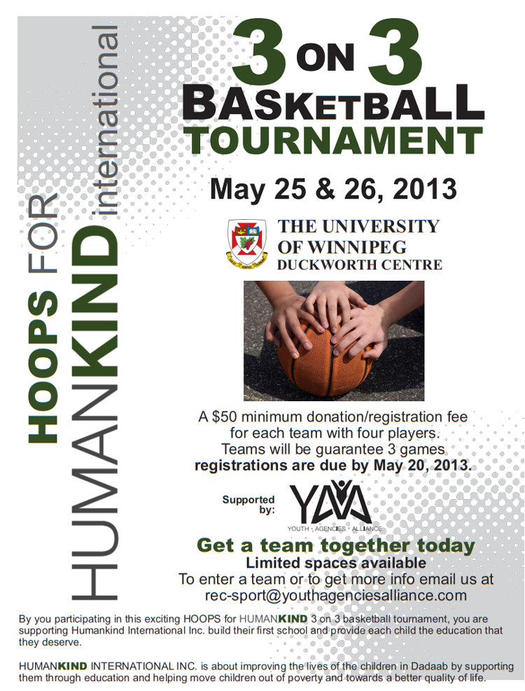 Hoops for Humankind 3on3 Basketball Tournament Coming May ...
